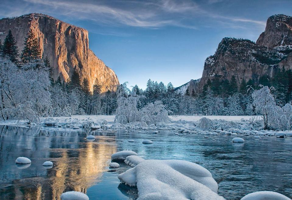 <p>A fresh coating of ice at Yosemite National Park.</p>