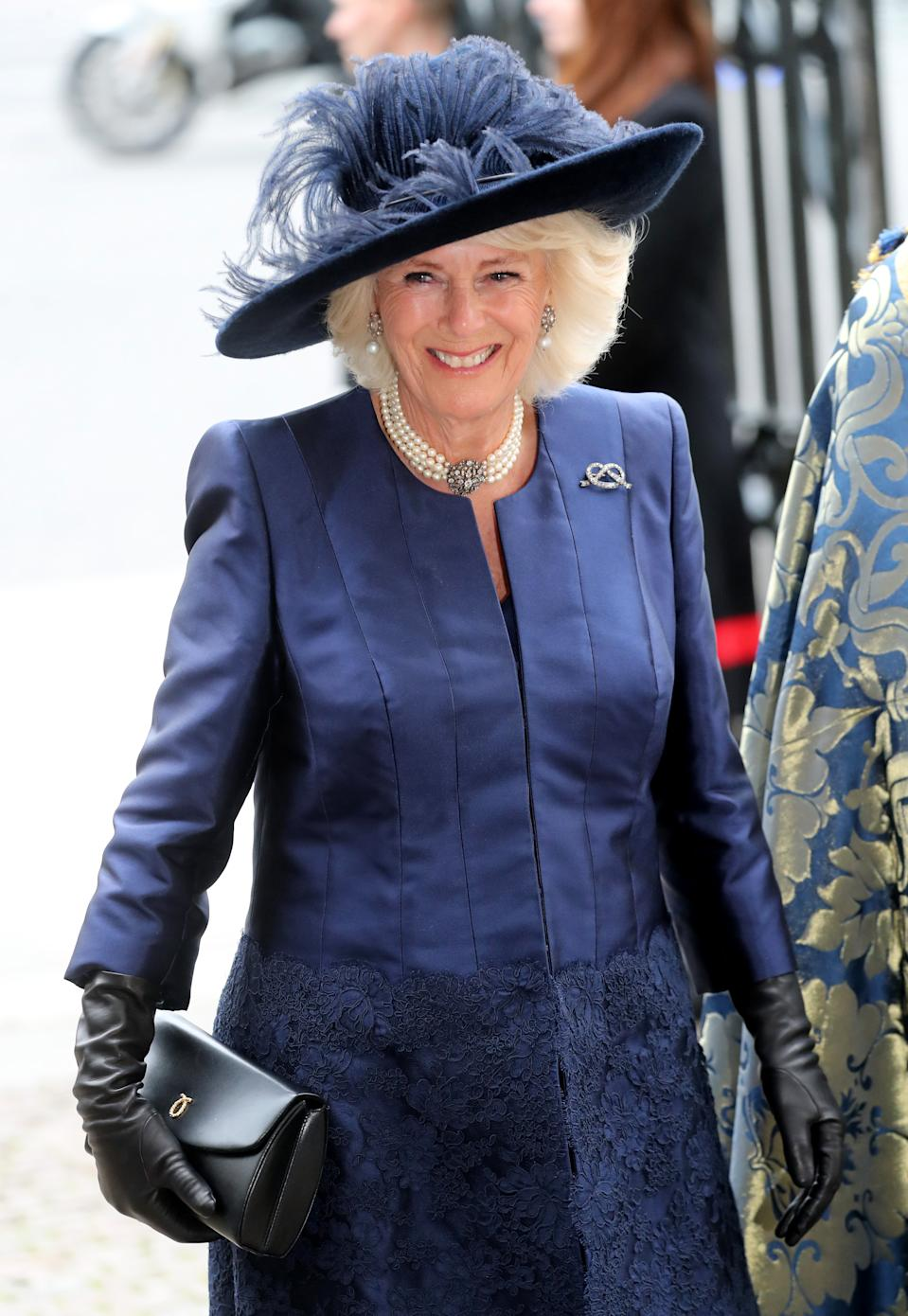 LONDON, ENGLAND - MARCH 09: Camilla, Duchess of Cornwall attends the Commonwealth Day Service 2020 at Westminster Abbey on March 09, 2020 in London, England. The Commonwealth represents 2.4 billion people and 54 countries, working in collaboration towards shared economic, environmental, social and democratic goals. (Photo by Chris Jackson/Getty Images)
