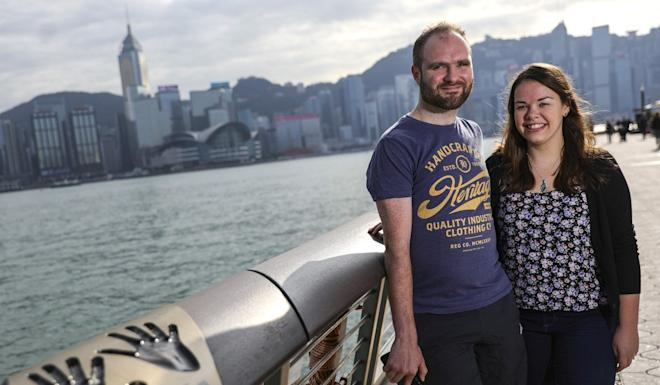 Nicholas Griffiths and Catherine Curran, whose visit to the city, en route to New Zealand, was affected by protests. Photo: May Tse