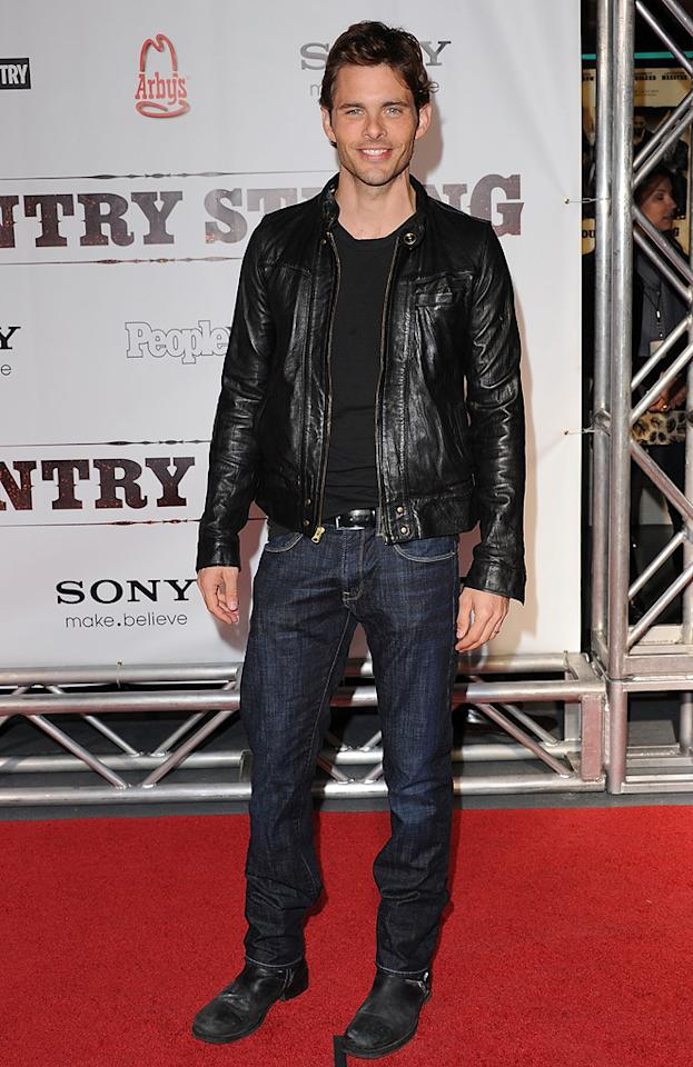 """<a href=""""http://movies.yahoo.com/movie/contributor/1800355003"""">James Marsden</a> attends the Nashville premiere of <a href=""""http://movies.yahoo.com/movie/1810133348/info"""">Country Strong</a> on November 8, 2010."""