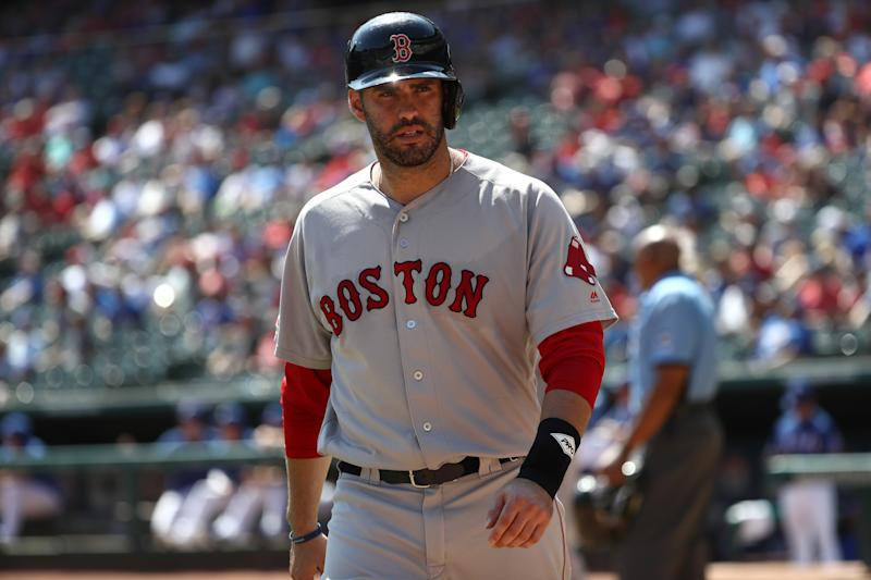 J.D. Martinez will remain with the Red Sox. (Ronald Martinez/Getty Images)