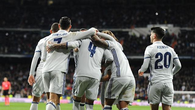 <p>With eight victories out of their last ten games and only three losses overall this season, one can say Real Madrid is on a pretty decent form. </p> <br><p>They've just stole the 1st place of La Liga to FC Barcelona with a late 2-1 victory over Real Betis this weekend thanks to Sergio Ramos' head and, with one game still to play, they could get five points ahead on top of the league. </p>