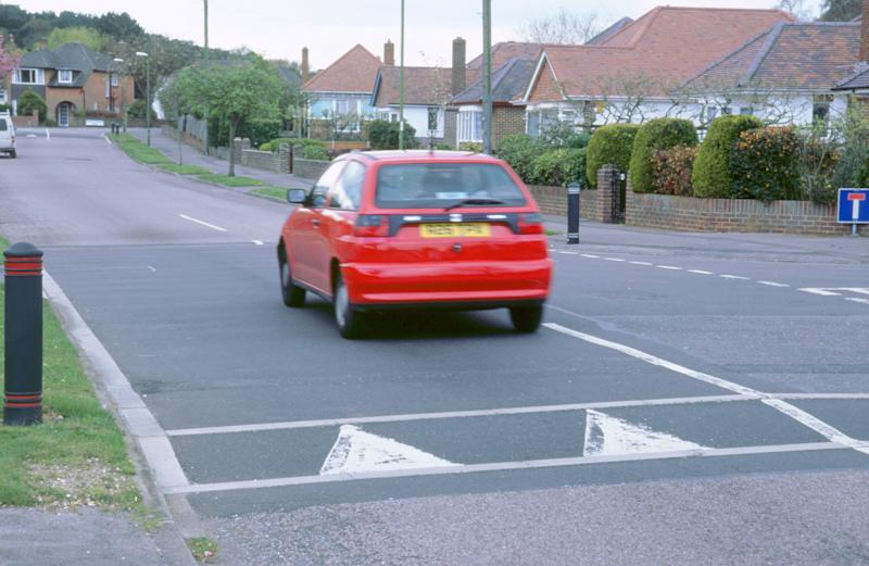 Traffic calming speed hump in Bournemouth, 2000. (Photo by National Motor Museum/Heritage Images/Getty Images)