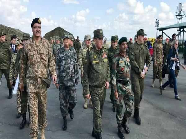 File photo of a multinational exercise with presence of Indian and Chinese troops in Russia