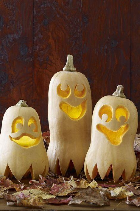 <p>Instead of going to the pumpkin patch, take a trip to the grocery store and stock up on butternut squash to make this friendly bunch. Depending on how much time you have, carve a single Casper or give him a few friends to keep him company. </p>