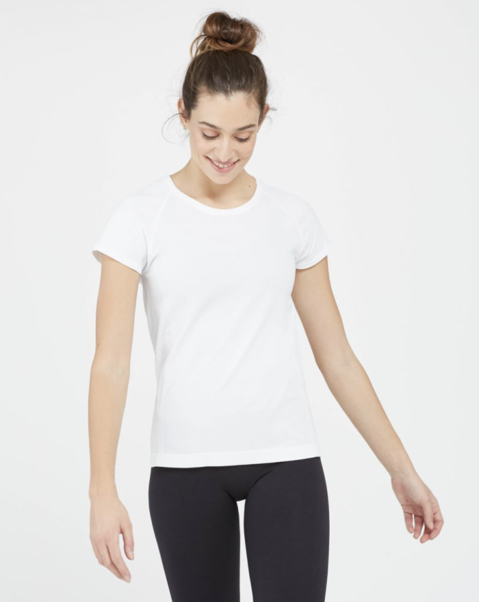 Look at Me Now Seamless Tee in White (Photo via Spanx)