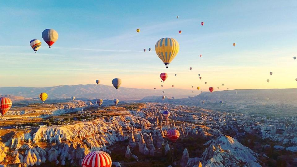"""<p>There is a massive ballooning festival every year, but in Cappadocia hot air balloons lift off almost every day at dawn. Visit in the spring or fall for the best chance of a perfectly sunny morning.<em><br><br><br><br><a href=""""https://subscribe.hearstmags.com/subscribe/womansday/253396?source=wdy_edit_article"""" rel=""""nofollow noopener"""" target=""""_blank"""" data-ylk=""""slk:Subscribe to Woman's Day"""" class=""""link rapid-noclick-resp"""">Subscribe to Woman's Day</a> today and get <strong>73% off your first 12 issues</strong>. And while you're at it, <a href=""""https://subscribe.hearstmags.com/circulation/shared/email/newsletters/signup/wdy-su01.html"""" rel=""""nofollow noopener"""" target=""""_blank"""" data-ylk=""""slk:sign up for our FREE newsletter"""" class=""""link rapid-noclick-resp"""">sign up for our FREE newsletter</a> for even more of the Woman's Day content you want.</em><br></p>"""