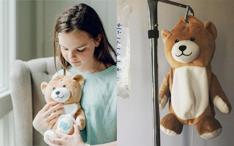 The 12-year-old has designed a revolutionary product for children who need IV bags [Photo: Medi Teddy]