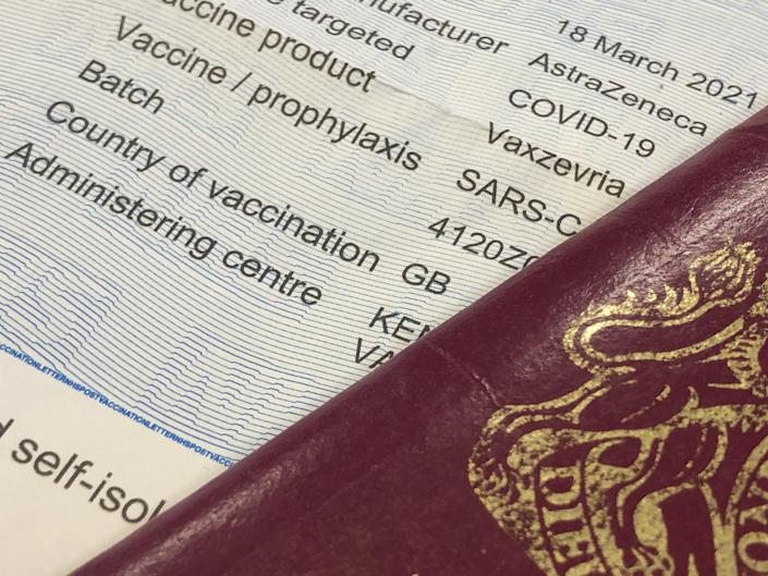 Jab or quarantine: the option is open only to people whose vaccinations were administered in the UK (Simon Calder)