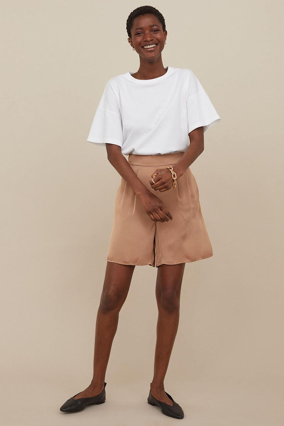 <p>These <span>Shorts with a Sheen</span> ($30) will elevate anything you pair them with, although you can totally dress them down with a t-shirt and some ballerina flats.</p>