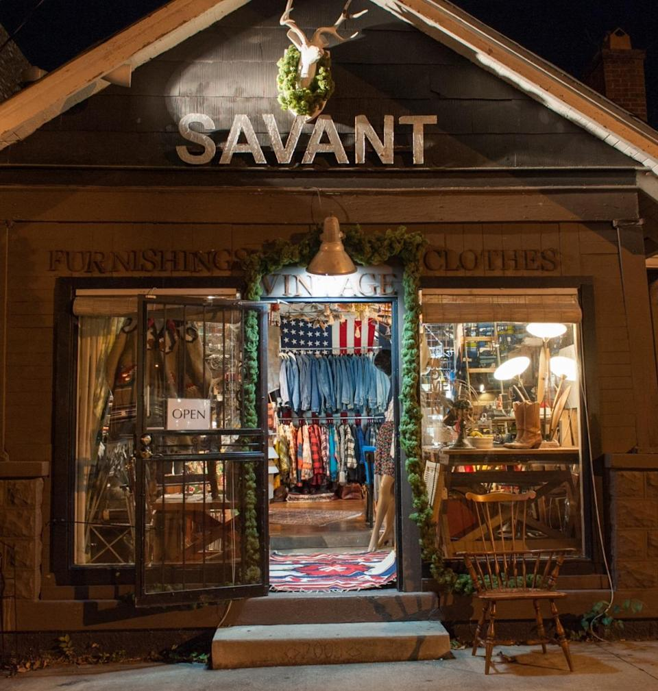 """<p>Long before the recent gentrification of Nashville's 12 South neighborhood, <a href=""""http://nashvilleguru.com/businesses/savant-vintage"""" rel=""""nofollow noopener"""" target=""""_blank"""" data-ylk=""""slk:Savant Vintage"""" class=""""link rapid-noclick-resp"""">Savant Vintage</a> was in the 'hood, catering to the style-conscious locals and celebs (Jack White, Taylor Swift). They come to the two-story converted house for glamorous pieces like floor-length beaded gowns and Pucci dresses and, on the other end of the spectrum, perfectly worn cowboy boots and the best selection of vintage denim in town. (And, yes, the furniture is for sale. Platner side table, anyone?) Like the vibe? You can sleep in it: The owner just opened an Airbnb outpost in the back.</p><p><i><a href=""""http://nashvilleguru.com/businesses/savant-vintage"""" rel=""""nofollow noopener"""" target=""""_blank"""" data-ylk=""""slk:Savant Vintage"""" class=""""link rapid-noclick-resp"""">Savant Vintage</a>, 2302 12th Ave. South, Nashville, TN 37204. (615) 385-0856</i></p>"""