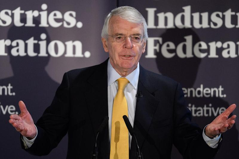 John Major speaks on Wednesday: Getty Images