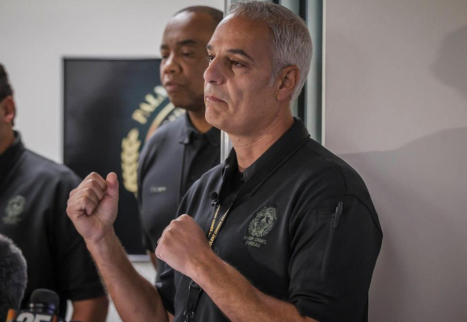 Palm Beach Sheriff's Office Major Talal Masri speaks at a press conference to share a timeline of events of the Royal Palm Beach Publix shooting at the PBSO offices on Community Drive in unincorporated Palm Beach County, Fla., on Friday, June 11, 2021.