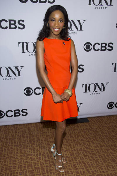 """FILE - In this May 1, 2013 file photo, Valisia LeKae attends the 2013 Tony Awards Meet the Nominess press reception in New York. The budding Broadway star who played Diana Ross in the hit show """"Motown the Musical"""" was diagnosed with ovarian cancer in late 2013, went through surgery and this week endured her first of six planned chemotherapy rounds. (Photo by Charles Sykes/Invision/AP, file)"""