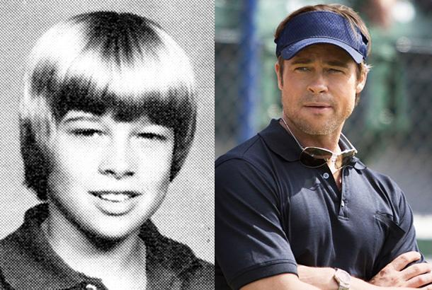 """Best Actor - Drama (Brad Pitt in Moneyball) <br><br>It was a good year for Brad Pitt, with two critically acclaimed parts in The Tree of Life and Moneyball. He picked up his fifth Golden Globe nomination today, and we think he's the favorite to win. He is up against his good friend George Clooney in The Descendants, so it should be interesting. <br><br><a target=""""_blank"""" href=""""http://www.snakkle.com/galleries/before-they-were-famous-stars-celebrity-actors-golden-globe-nominees-noms-yearbook-photos-then-and-now/kristen-wiig-yearbook-high-school-young-gc/"""">View the entire gallery at Snakkle.com</a><br>"""