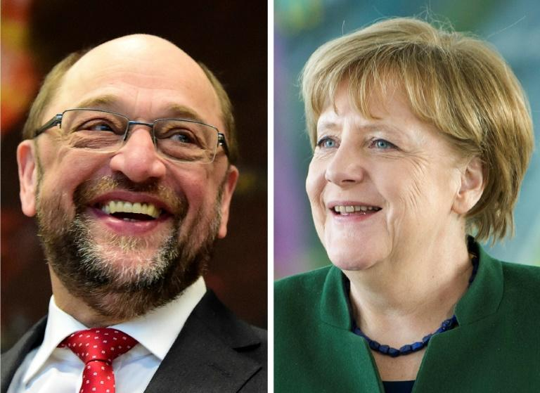 Merkel party humiliates SPD rivals in last test before election