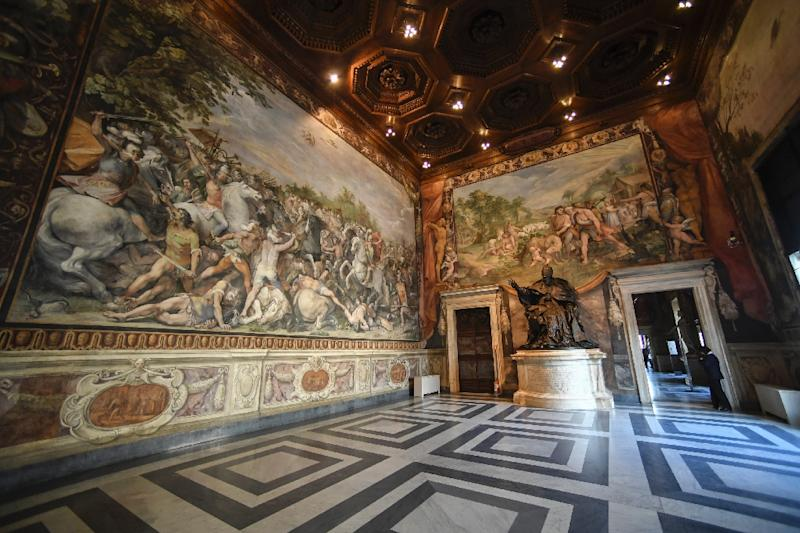 The EU will mark it's 60th anniversary in the Hall of the Horatii and Curiatii where the Treaty of Rome was signed in 1957 (AFP Photo/Andreas SOLARO)