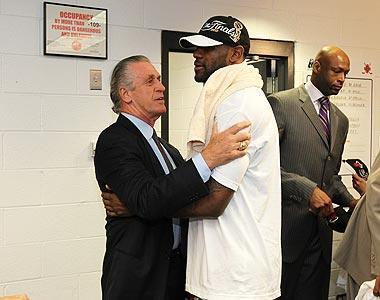 LeBron James' decision to join Pat Riley and the Heat last summer has paid off with his first trip to the NBA Finals since 2007. The Heat will face the Mavs