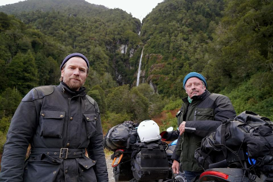 """<p>Believe it or not, actor Ewan McGregor has been in the travel show business for some 16 years. It all started with <em>Long Way Round</em>, a 2004 series that followed McGregor and his friend Charley Boorman on a motorcycle journey from London through Europe, Asia—and then after a flight to Alaska—Canada, and the U.S. all the way to New York City. The show was followed by 2007's <em>Long Way Down,</em> which took the duo from Scotland to South Africa, on motorcycles once again. Now, they've turned their bikes (electric this time) towards South and Central America, with the latest iteration following the duo some 13,000 miles from Ushuaia, Argentina, on the continent's southernmost tip, to L.A. As usual, hijinks, pitfalls, and stunning scenery are all on view. Neither of the earlier shows are available to stream in the U.S. currently (though you can find them on Apple TV+ in the U.K.), but <em>Long Way Up</em> is an Apple TV+ original and on view for all. </p> <p><strong>Watch now:</strong> Free with an Apple TV+ subscription (<a href=""""https://tv.apple.com/us/show/long-way-up/umc.cmc.1nv0tluok21c2f8549mdjqdnh"""" rel=""""nofollow noopener"""" target=""""_blank"""" data-ylk=""""slk:sign up for Apple TV+ here"""" class=""""link rapid-noclick-resp""""><em>sign up for Apple TV+ here</em></a>)</p>"""