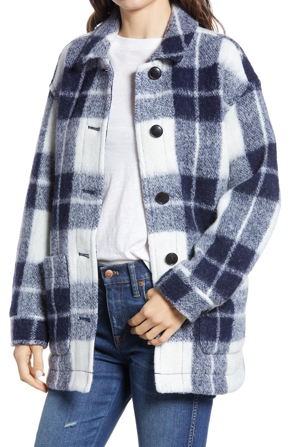 "<p><strong>MADEWELL</strong></p><p>nordstrom.com</p><p><a href=""https://go.redirectingat.com?id=74968X1596630&url=https%3A%2F%2Fwww.nordstrom.com%2Fs%2Fmadewell-womens-walton-colleton-plaid-shirt-jacket%2F5739811&sref=https%3A%2F%2Fwww.bestproducts.com%2Fpromo-coupon-codes%2Fg34775483%2Fnordstrom-black-friday-cyber-monday-deals-2020%2F"" rel=""nofollow noopener"" target=""_blank"" data-ylk=""slk:Shop Now"" class=""link rapid-noclick-resp"">Shop Now</a></p><p><strong>Price: <del>$228</del> $159.60 (30% off) </strong></p><p>Imagine yourself in a cozy cabin in the dead of winter. Now picture yourself in this shirt jacket in said cabin. Sold yet? </p>"