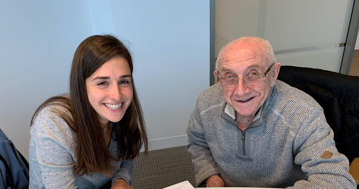 """Researching """"The Upstander,"""" Jori Epstein interviewed Max Glauben about his Holocaust survival over the course of several years."""