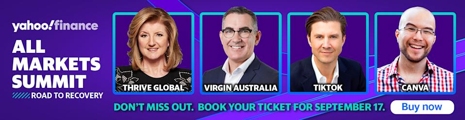 Don't miss Yahoo Finance's All Markets Summit on 17 September! Register here for your tickets.