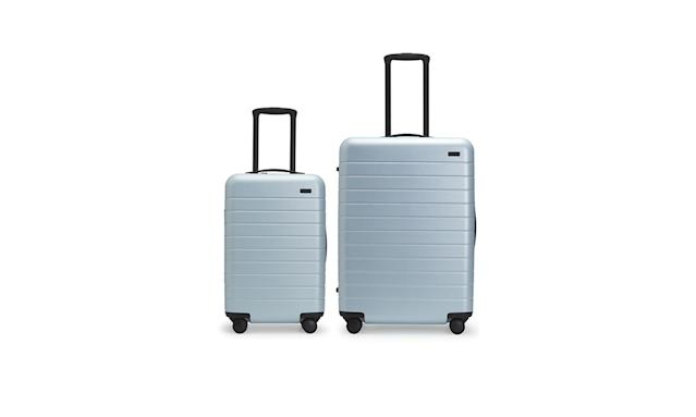 "<p>Set of two, $450, <a href=""https://www.awaytravel.com/luggage/sets/frost"" rel=""nofollow noopener"" target=""_blank"" data-ylk=""slk:awaytravel.com"" class=""link rapid-noclick-resp"">awaytravel.com</a> </p>"