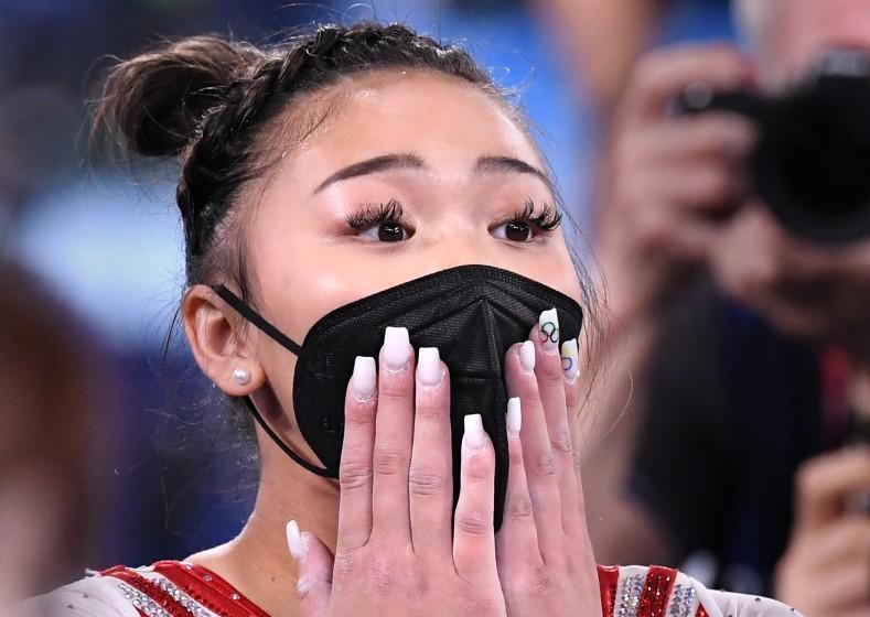 -TOKYO,JAPAN July 29, 2021: USA's Sunisa Lee reacts to winning the gold medal in the women's individual all-around final at the 2020 Tokyo Olympics. (Wally Skalij /Los Angeles Times)