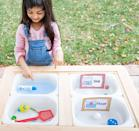 """<p>Having kids figure out what makes certain objects sink and what makes them float is a good way to teach them about density — and an even better way to get them practicing the scientific method, if they make a hypothesis first about what will sink and float and then measure the results. </p><p><em><a href=""""https://www.funwithmama.com/sink-or-float-experiment-worksheet/"""" rel=""""nofollow noopener"""" target=""""_blank"""" data-ylk=""""slk:Get the tutorial at Fun with Mama »"""" class=""""link rapid-noclick-resp"""">Get the tutorial at Fun with Mama »</a></em></p>"""