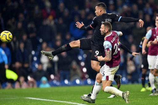 Gabriel Jesus scored twice for Manchester City against Burnley
