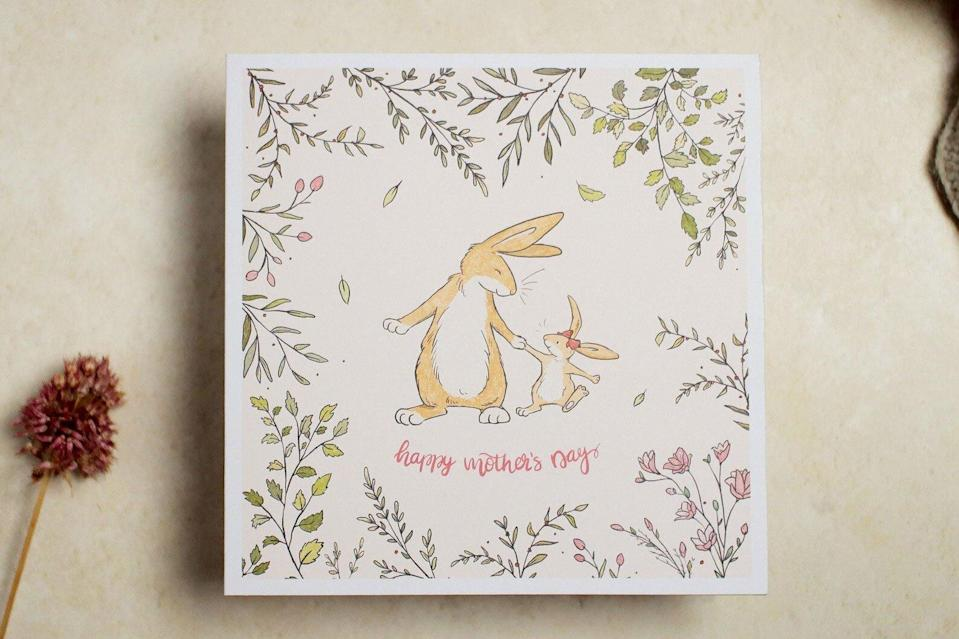 LizeyMay Bunny Happy Mother's Day Card