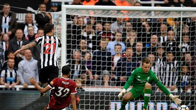 Joselu ran straight down the middle of Joel Matip and Dejan Lovren, which resulted in Newcastle's equaliser