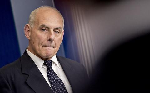 John Kelly, the White House chief of staff - Credit: Andrew Harrer/Bloomberg