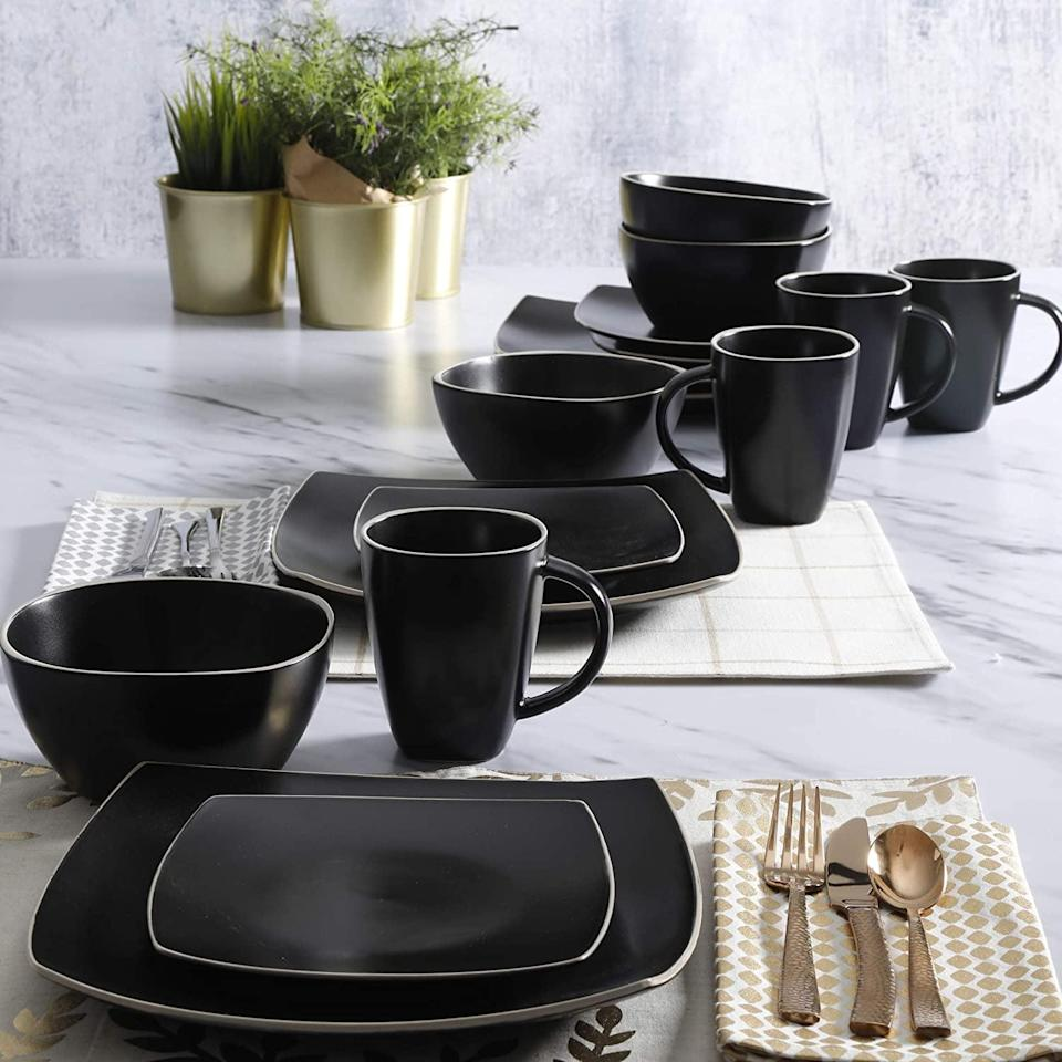 <p><span>Gibson Elite Soho Lounge Square Dinnerware Set</span> ($47, originally $55)</p>