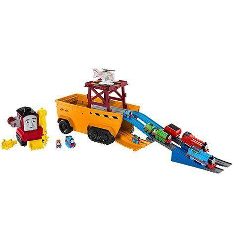 "<p><strong>Thomas & Friends</strong></p><p>amazon.com</p><p><strong>$23.85</strong></p><p><a href=""https://www.amazon.com/dp/B07MMP1S2Q?tag=syn-yahoo-20&ascsubtag=%5Bartid%7C10055.g.1900%5Bsrc%7Cyahoo-us"" rel=""nofollow noopener"" target=""_blank"" data-ylk=""slk:Shop Now"" class=""link rapid-noclick-resp"">Shop Now</a></p><p>Stefano is a cruiser who can transform into a train track, so he's perfect for playing with on the go. If you open him up, he has room for 40 engines inside (he comes with three). <em>Ages 3+</em><br></p>"