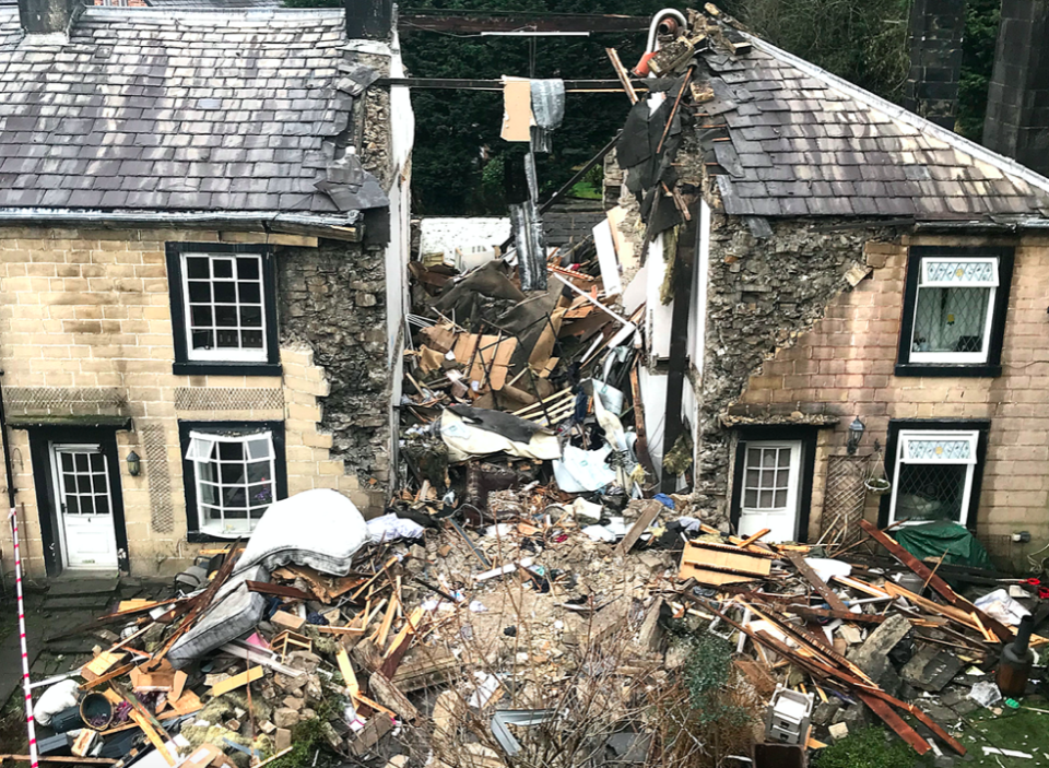 Hazel Wilcock's property was completely destroyed and there was damage to two neighbouring properties. (Reach)
