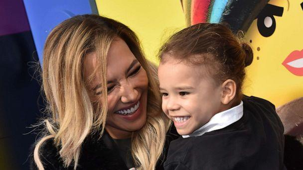 PHOTO: Naya Rivera and son Josey Hollis Dorsey arrive for the premiere of 'The Lego Movie 2: The Second Part' in Westwood, Calif., Feb. 2, 2019. (Chris Delmas/AFP via Getty Images. FILE)