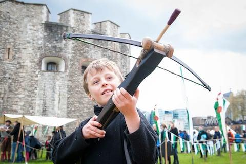 The Tower of London has interactive events each weekend to help children engage with history - Credit: DAVID JENSEN