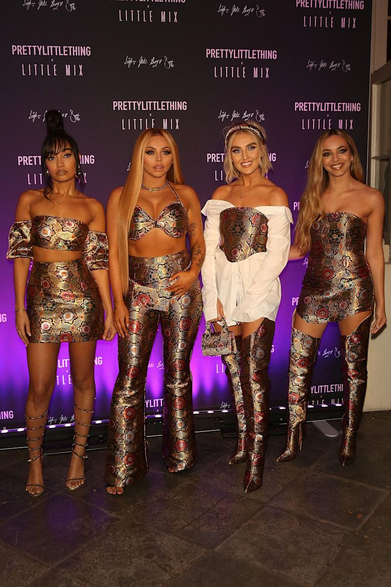 Little Mix's Perrie Edwards, Jesy Nelson, Leigh-Anne Pinnock and Jade Thirlwall at the launch of PrettyLittleThing x Little Mix in Banbury, England, on Nov. 6.