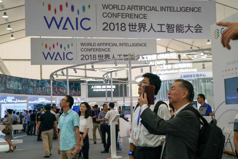 New AI medical technology was displayed at the World Artificial Intelligence Conference 2018 in Shanghai