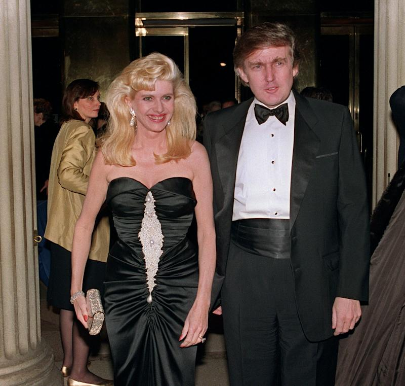 Ivana and Donald Trump in New York on Dec. 4, 1989.
