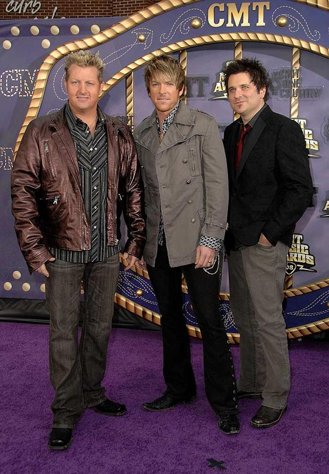 """Based on these outfits, the men of Rascal Flatts could've been named Scary, Sporty, and Posh. Jon Kopaloff/<a href=""""http://www.filmmagic.com/"""" target=""""new"""">FilmMagic.com</a> - April 14, 2008"""