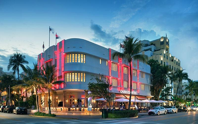 The Cardozo was one of Miami Beach's first hotels, designed in 1939 by Henry Hohauser, one of the principal architects of South Beach Deco along with L Murray Dixon, set on Ocean Drive - MAURIZIO LEONI