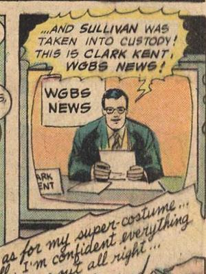 Superman as newscaster