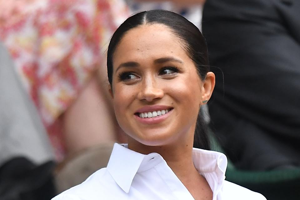 Meghan Markle attended 2019's tournament just a month after giving birth to son, Archie. She sat alongside the Duchess of Cambridge for the final. <em>[Photo: Getty Images]</em>