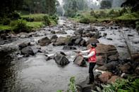 The catch-and-release ethos of fly fishing is often not understood by Kenyans who fish for food (AFP/LUIS TATO)