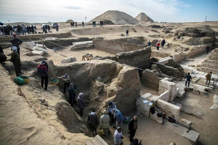 Hawass said his team had discovered a total of 22 burial shafts at the site