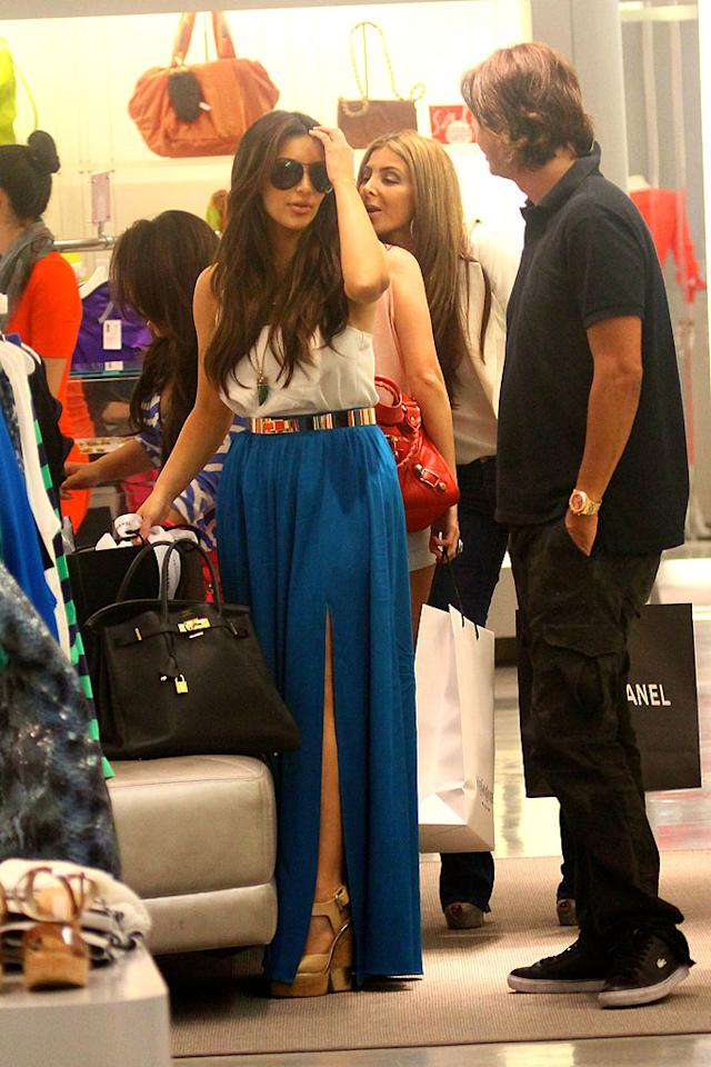 After a cross-country flight from L.A. to Miami, Kim Kardashian hit -- what else? -- the shops. The E! reality star and her friend Jonathan Cheban checked out Bal Harbour's finest boutiques on Wednesday. Kim tweeted that she's in town to scope out spots for her new Dash clothing store, which already has locations in L.A. and NYC. (2/1/2012)