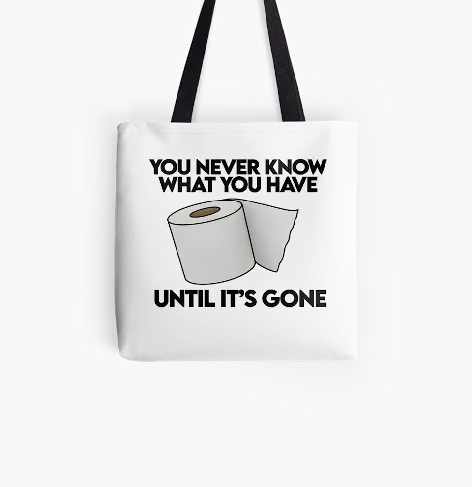 By this point you'll be on a roll with all the awesome Redbubble gifts you've snatched up, so what's more apt than this? (Photo: Redbubble)