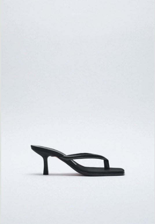 "<br><br><strong>Zara</strong> Leather High-Heel Sandals With Square Toes, $, available at <a href=""https://www.zara.com/uk/en/leather-high-heel-sandals-with-square-toes-p12314710.html?v1=89079697"" rel=""nofollow noopener"" target=""_blank"" data-ylk=""slk:Zara"" class=""link rapid-noclick-resp"">Zara</a>"